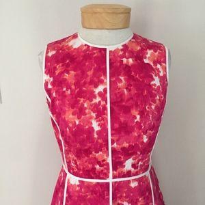 Calvin Klein pink watercolor print dress
